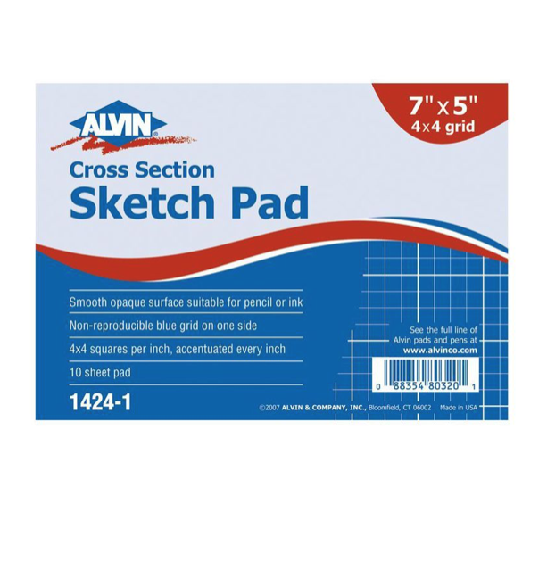 ALVIN ALVIN CROSS SECTION SKETCH PAD 7X5