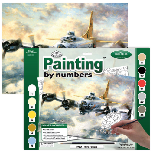 ROYAL & LANGNICKEL PAINT BY NUMBERS FLYING FORTRESS