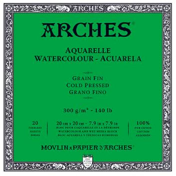 ARCHES ARCHES WATERCOLOUR BLOCK 140LB CP 7X10