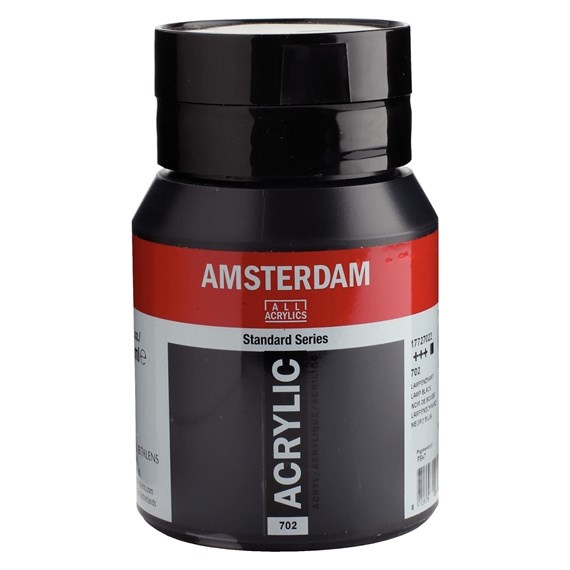 AMSTERDAM ACRYLIC 500ML LAMP BLACK