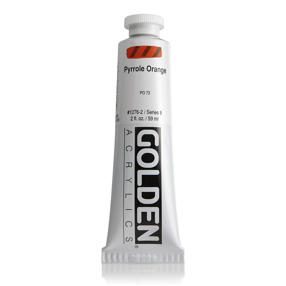 GOLDEN GOLDEN HEAVY BODY ACRYLIC 2OZ PYRROLE ORANGE