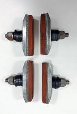 Scott Mathauser Finned Threaded Brake Pads (2 Pairs)