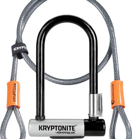 Kryptonite U-Lock Kryptolok Mini-7 3.25x7 w/4ft-Cable and Bracket