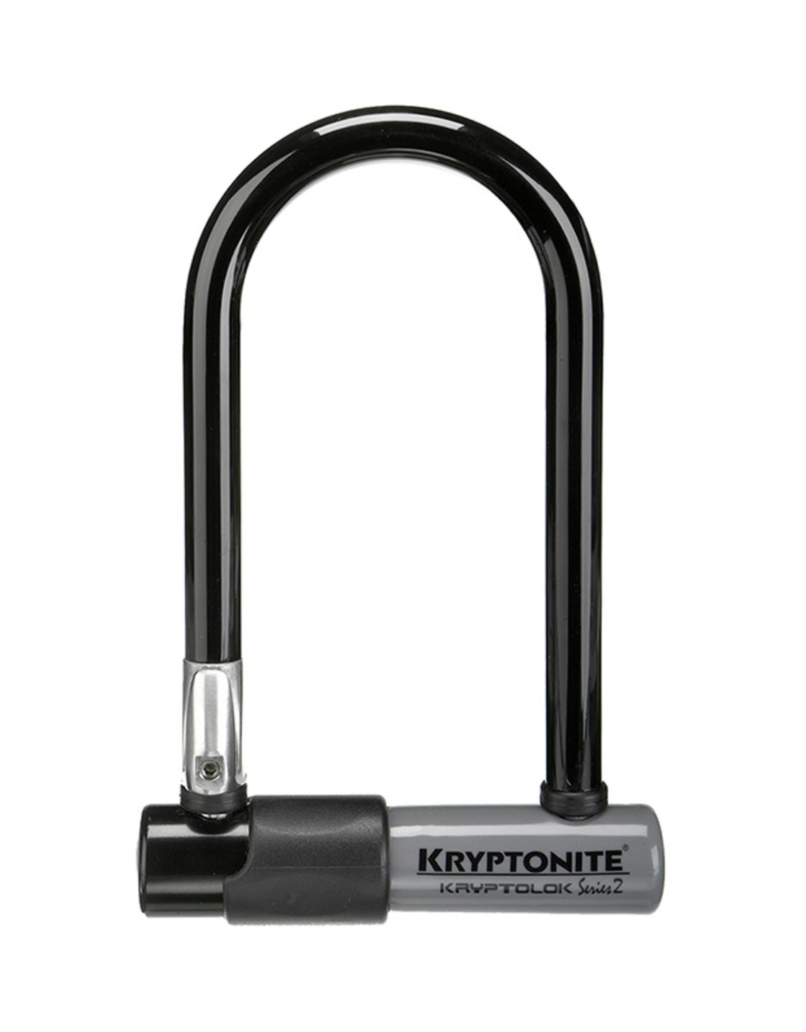 """Kryptonite KryptoLok U-Lock - 3.25 x 7"""", Keyed, Black, Includes bracket"""
