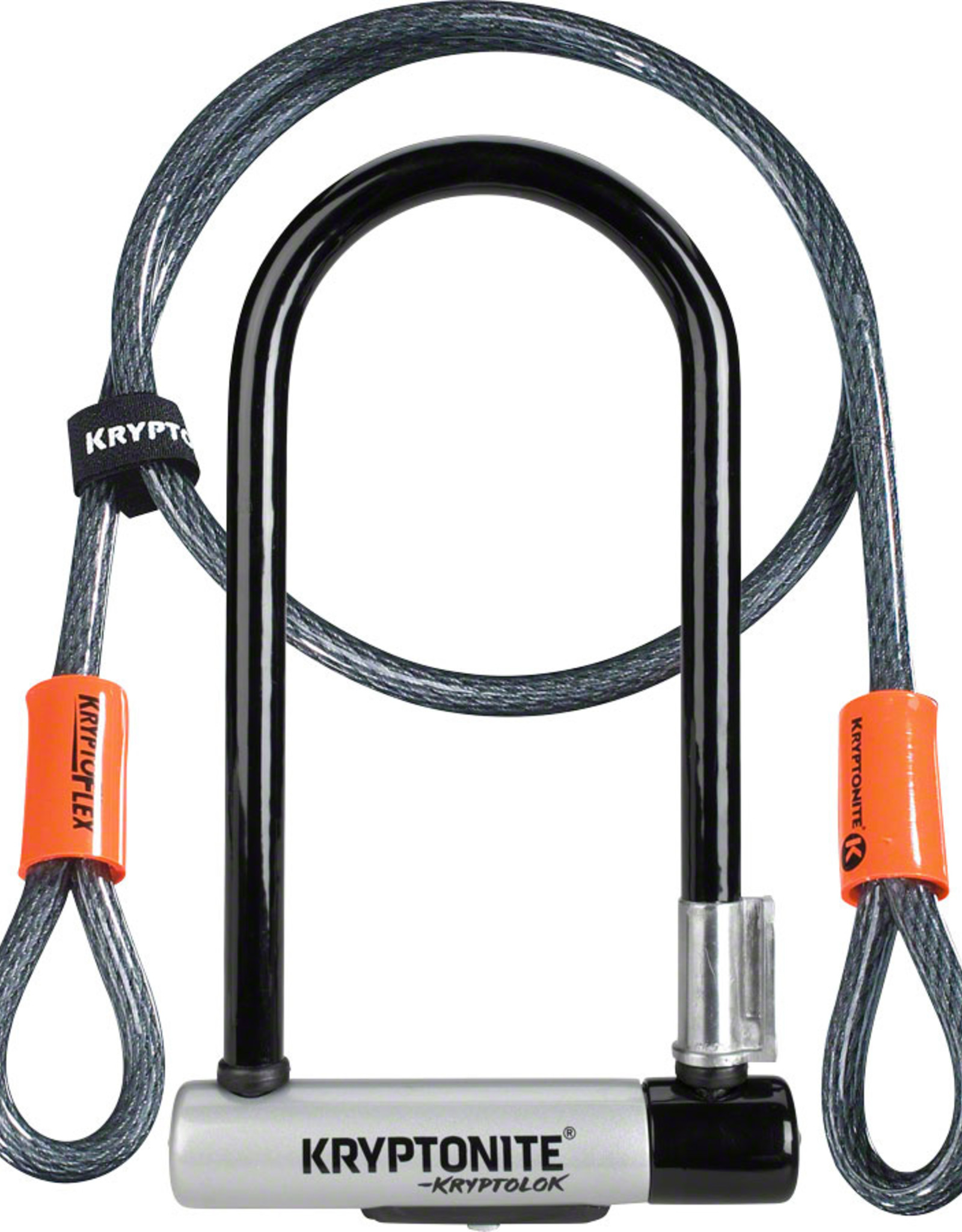 Kryptonite KryptoLok Series 2 STD U-Lock with 4' Flex Cable and Bracket