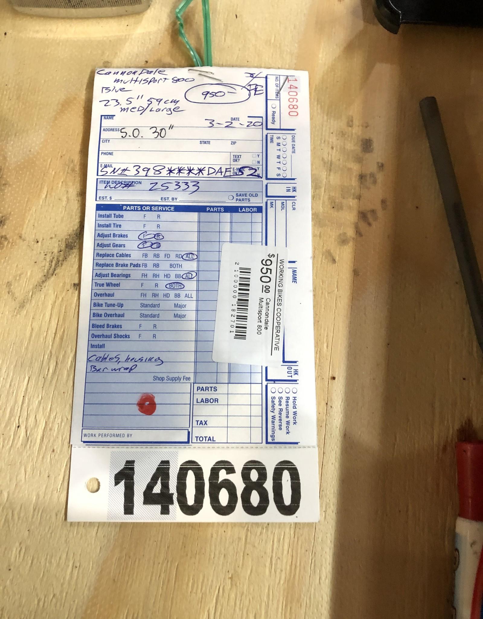 Cannondale 59cm Cannondale Multisport 800 (AE52)