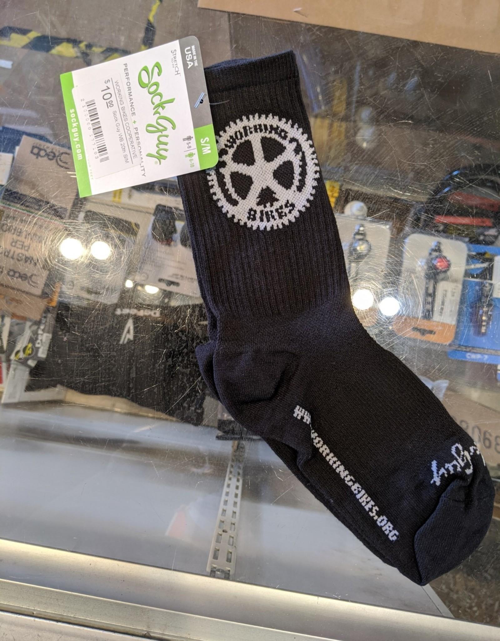 Working Bikes 20th Anniversary Socks:  S/M