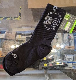 Working Bikes 20th Anniversary Socks:  S/M