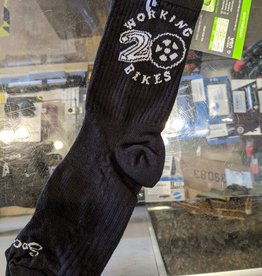 Working Bikes 20th Anniversary Socks: L/XL