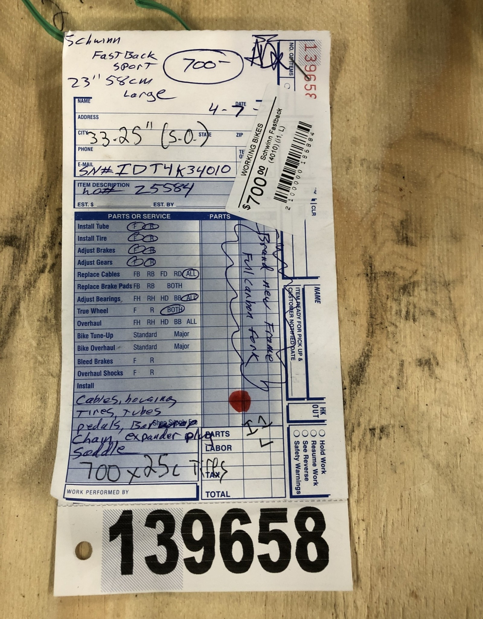 58cm Schwinn Fastback (4010) (i1, L)