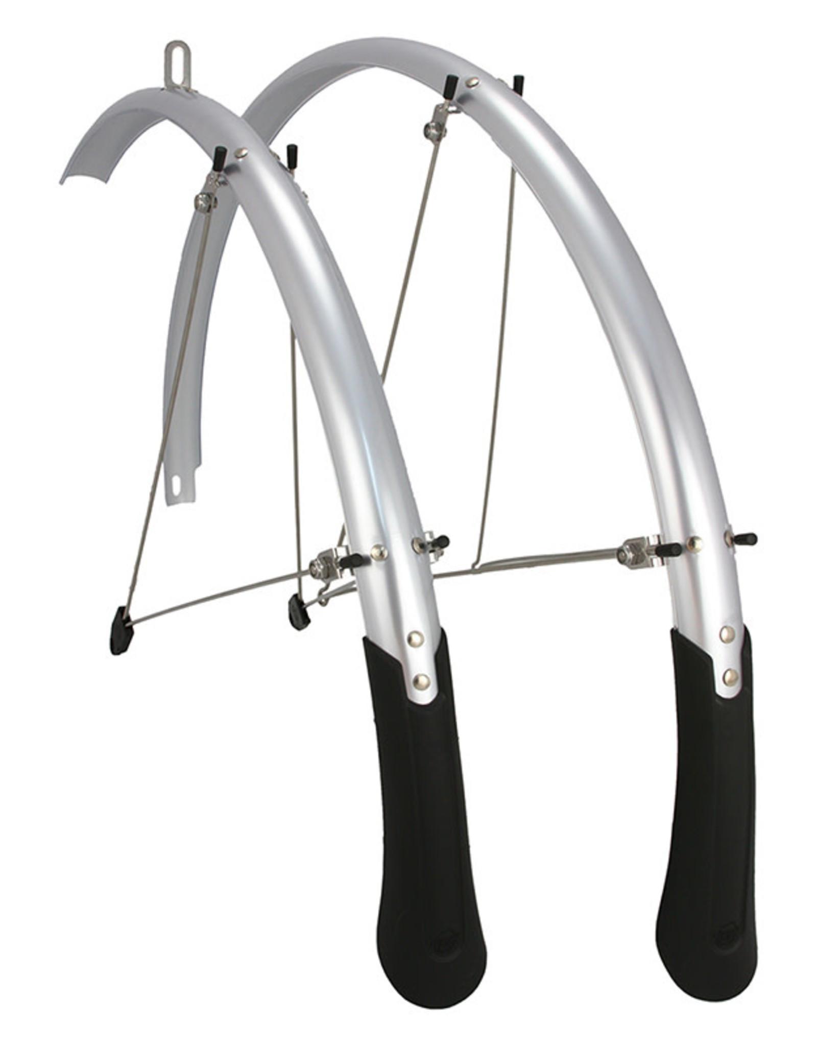 Planet Bike Cascadia Fenders 35mm (Tire Sizes 700 x 18-25) Road Silver