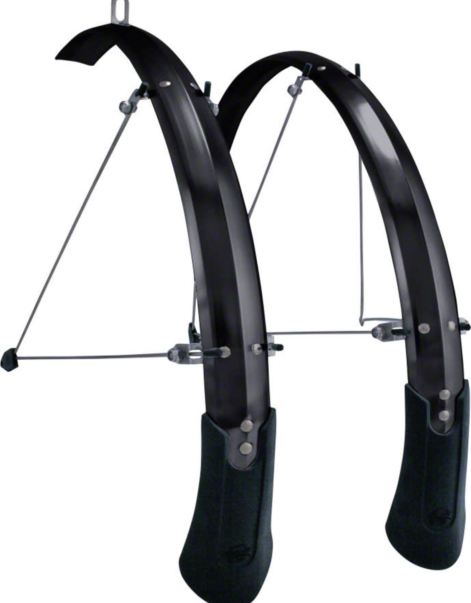 Planet Bike Cascadia ALX 700c x 50 Fender Set: Black (tire sizes 700c x 30-40)