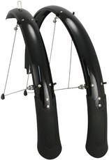 "Planet Bike Cascadia 26"" x 60 Fender Set: (26 x 1.4-1.9) Black"
