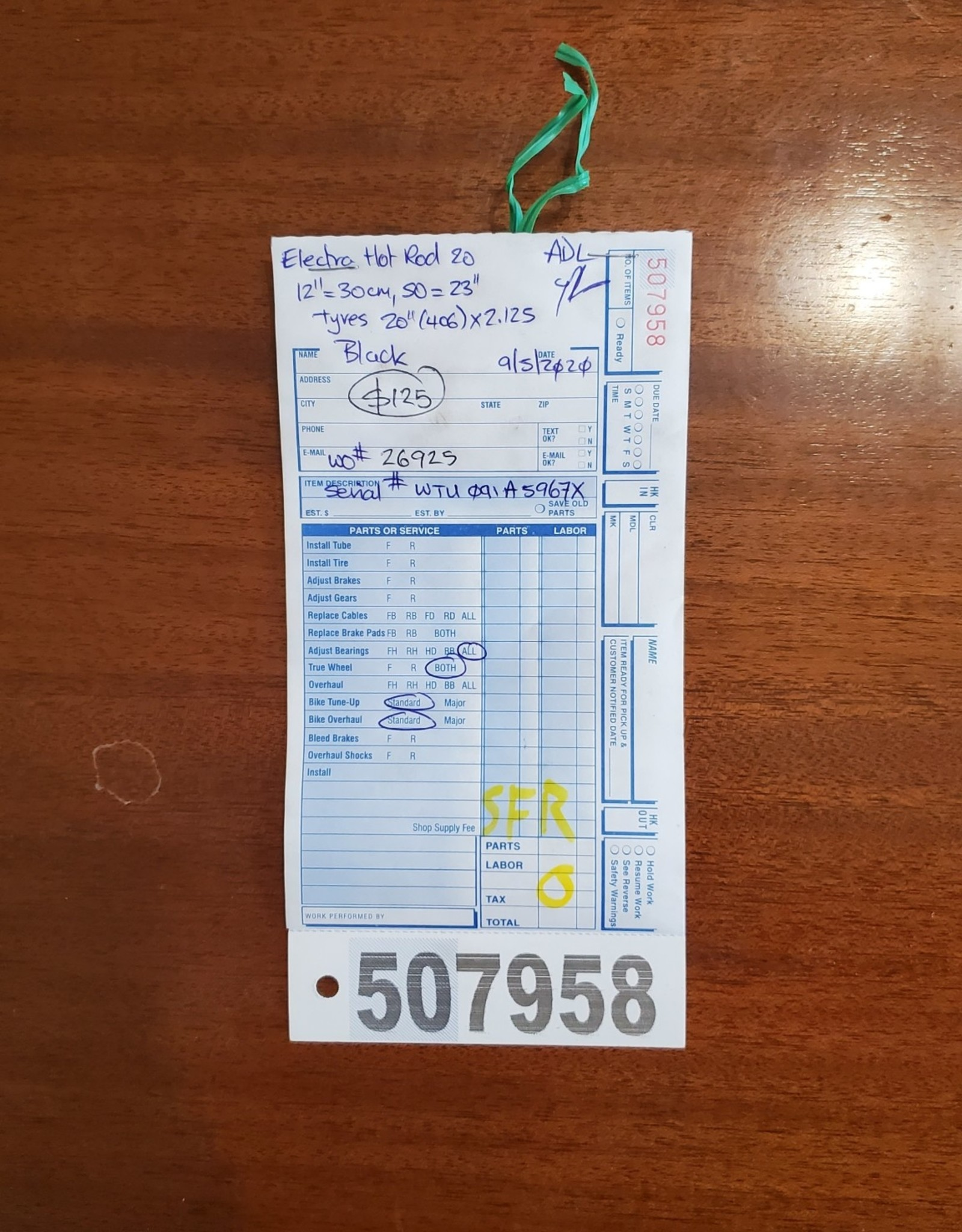 "20"" Electra Hot Rod (967X SFR)"