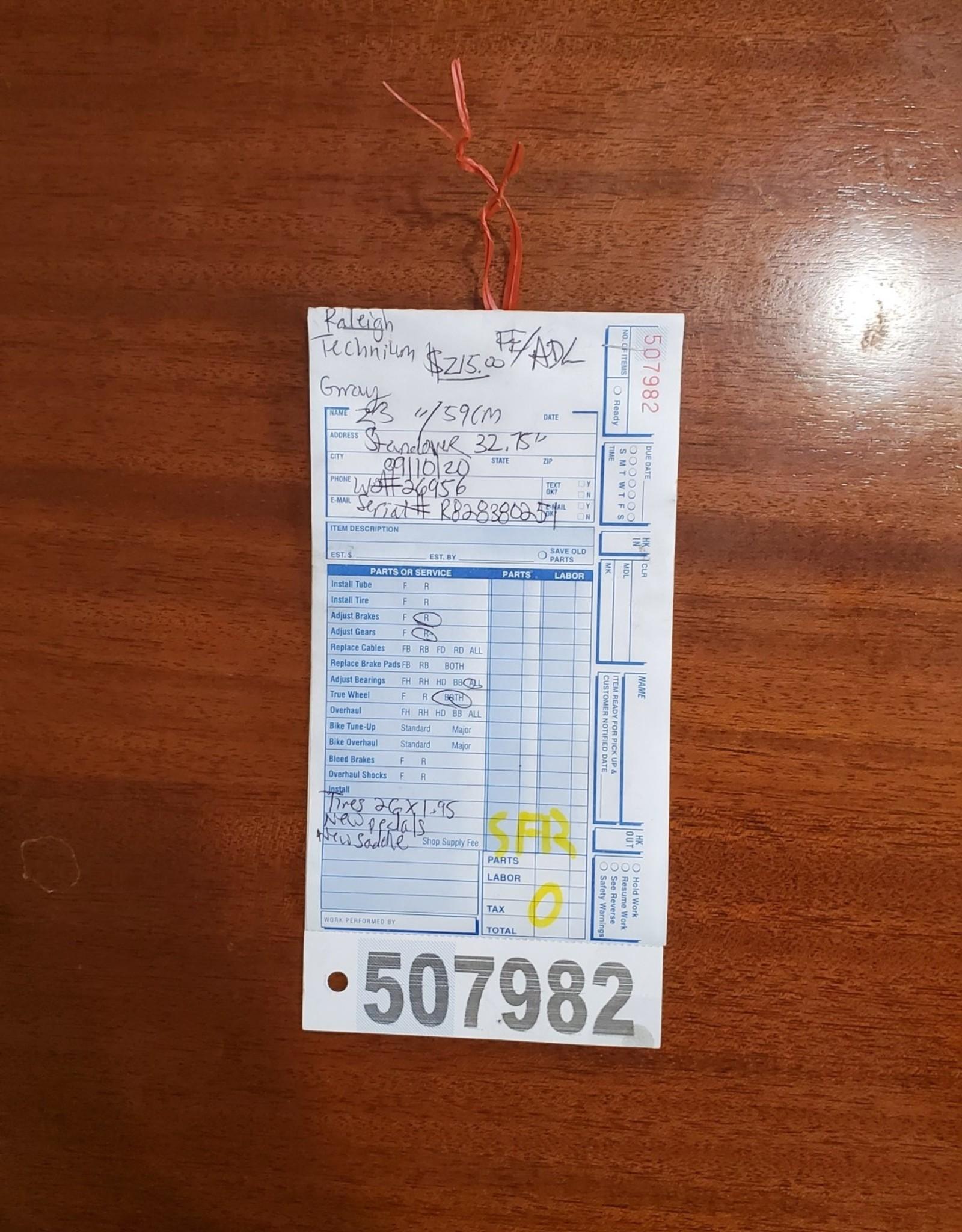 "23"" Raleigh Technium (0254 SFR)"