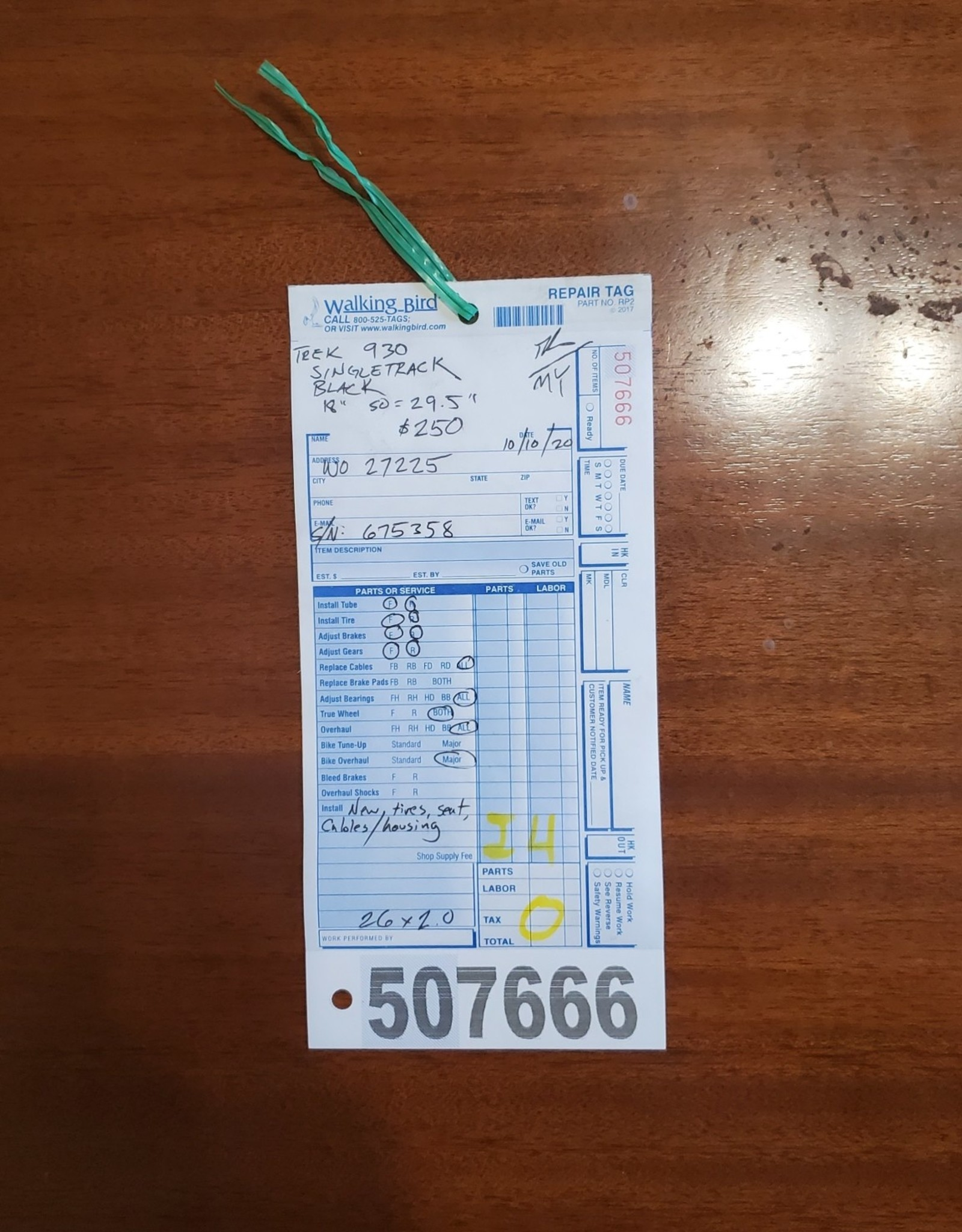 "18""  Trek 930 Singletrack (5358 I4U)"