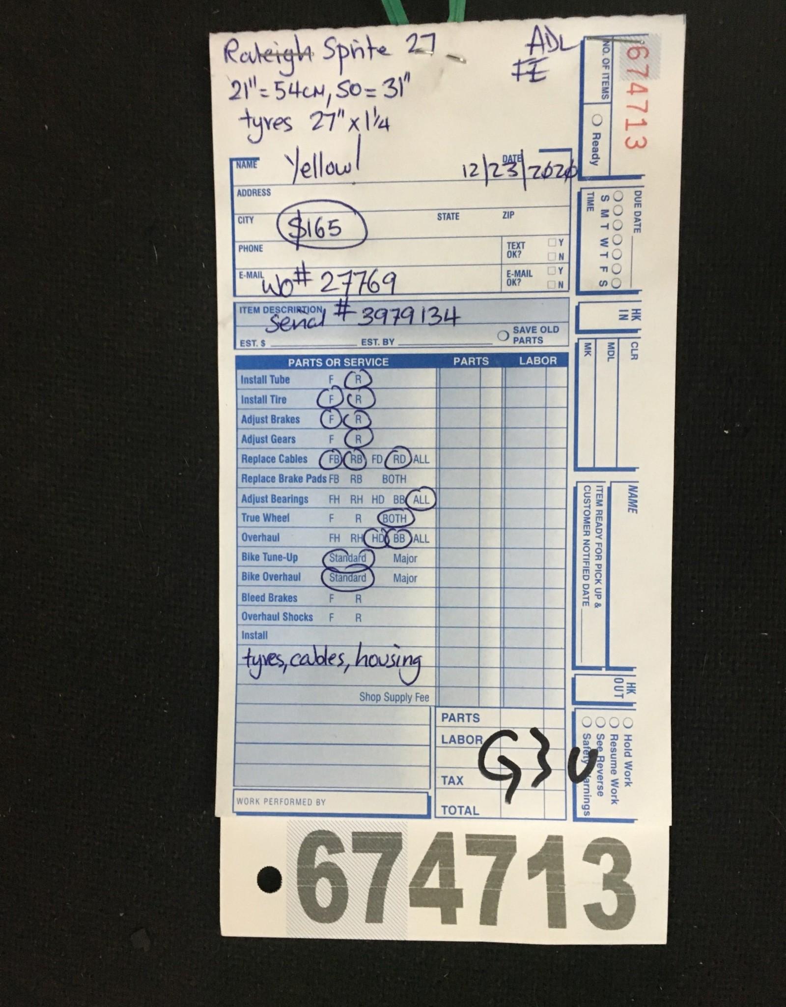 """21"""" Raleigh Sprite 27 (9134 G2u)"""