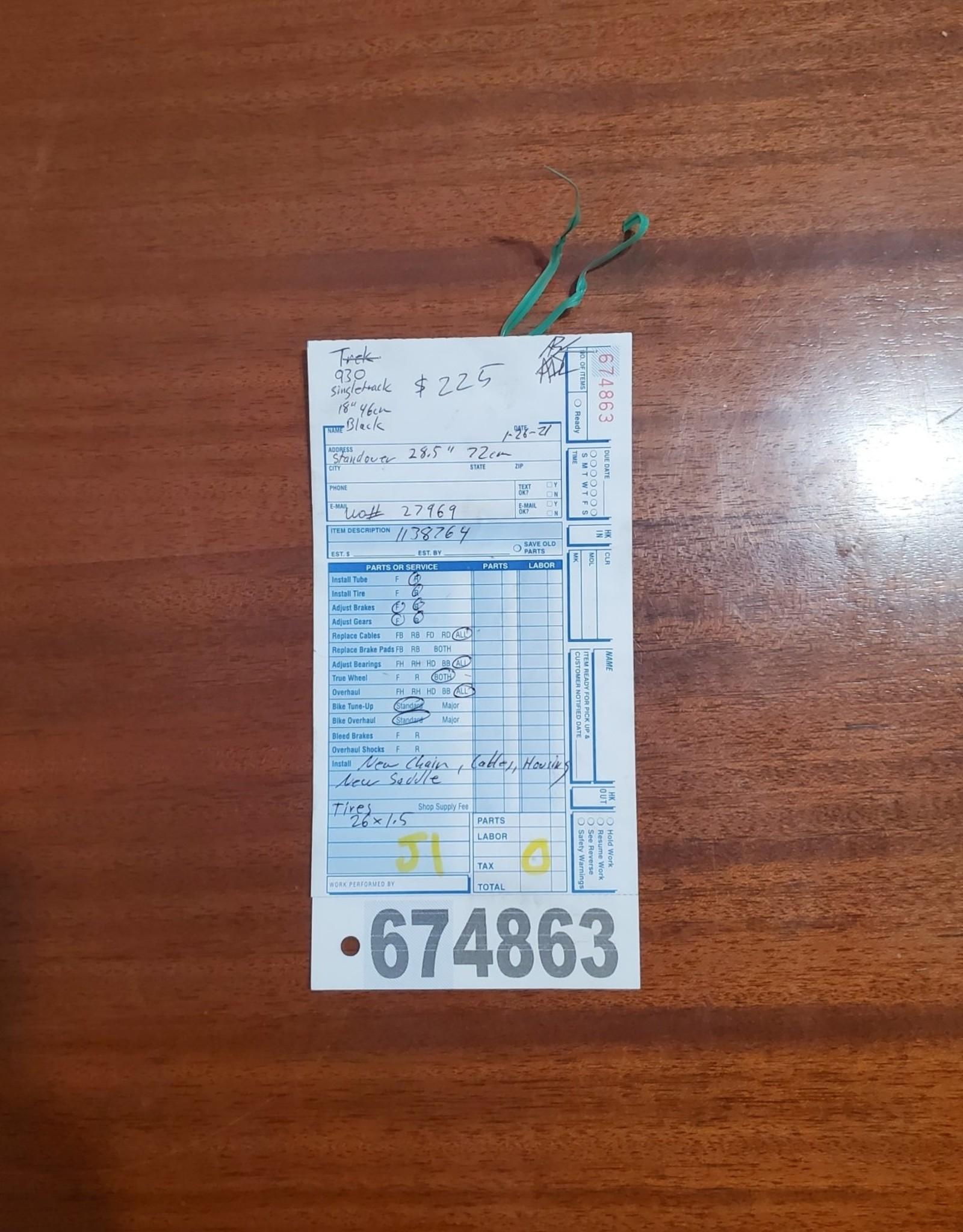 """18"""" Trek 930 Singletrack (8764 J1)"""