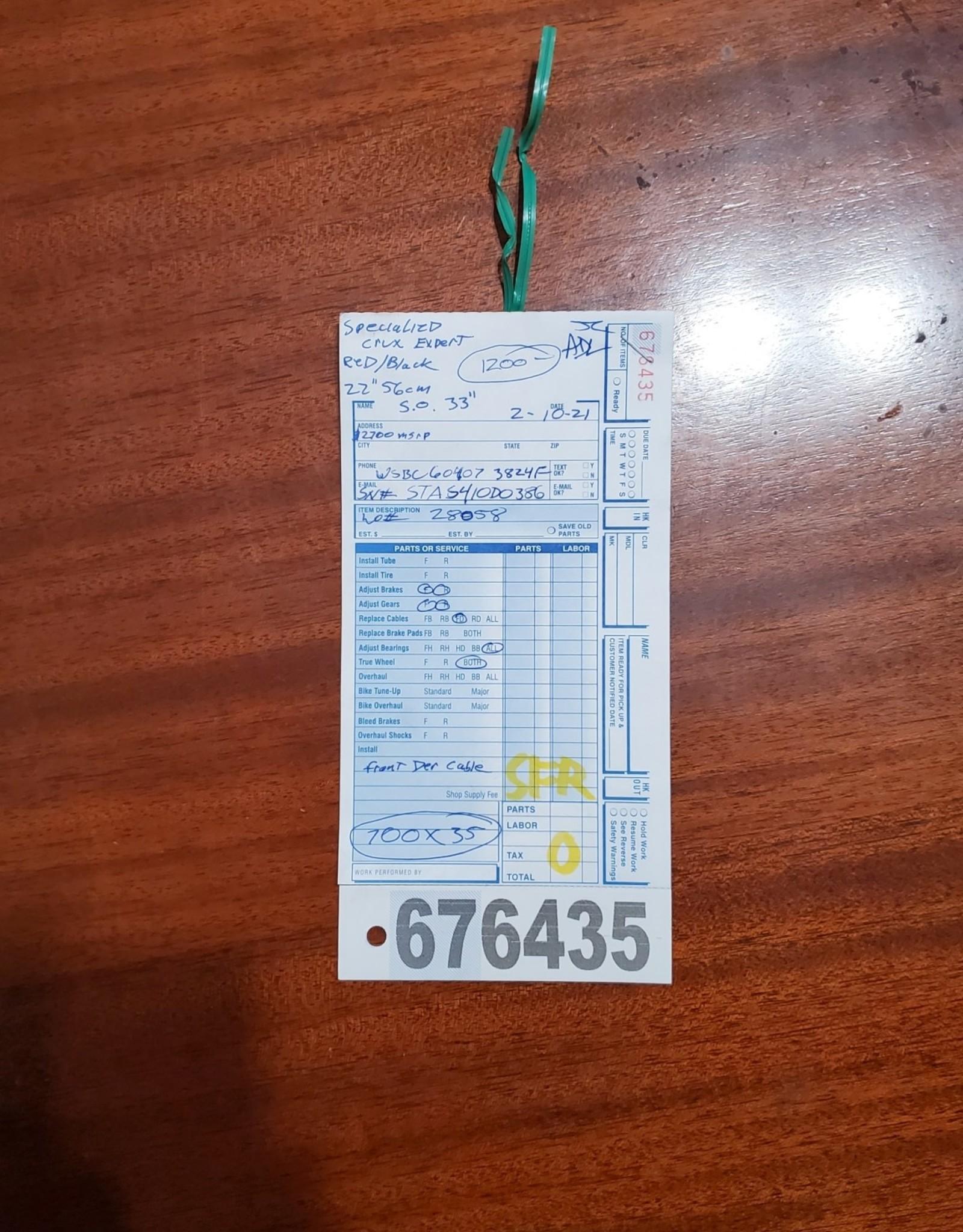 56cm Specialized Crux Expert (0386 SFR)