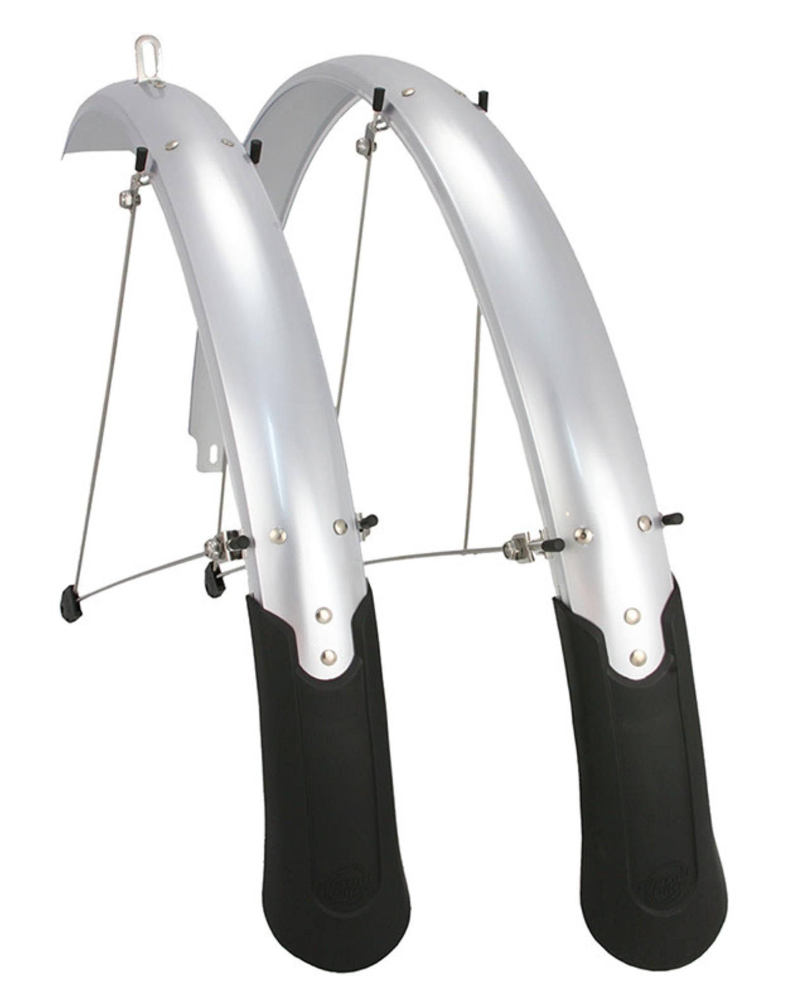 Planet Bike FENDERS PB CASCADIA 26x60mm ATB Silver
