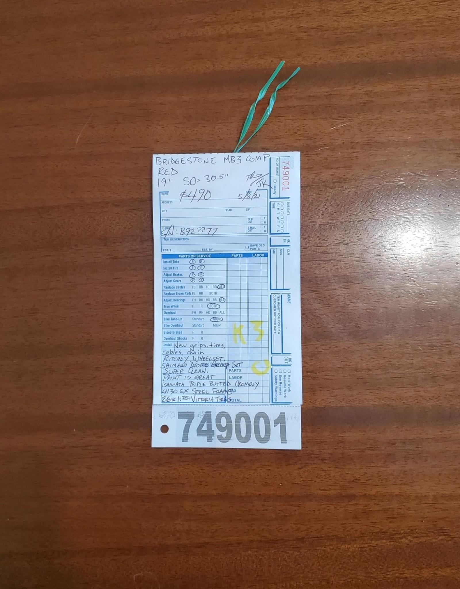 "19""  Bridgestone  MB3 (77 K3)"