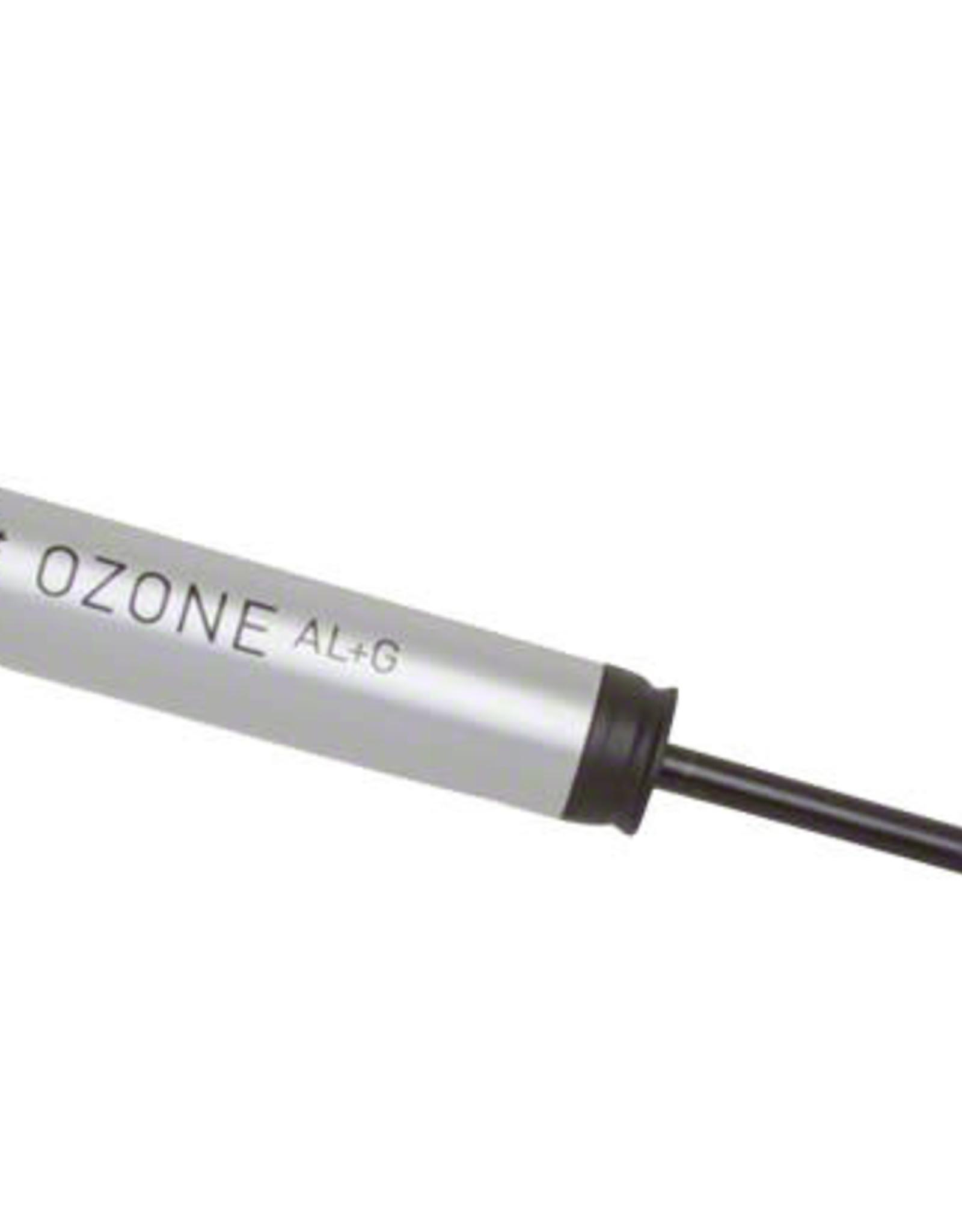 Planet Bike Ozone ATB Aluminum Frame Pump with Gauge: Presta/Schrader, Silver/Black