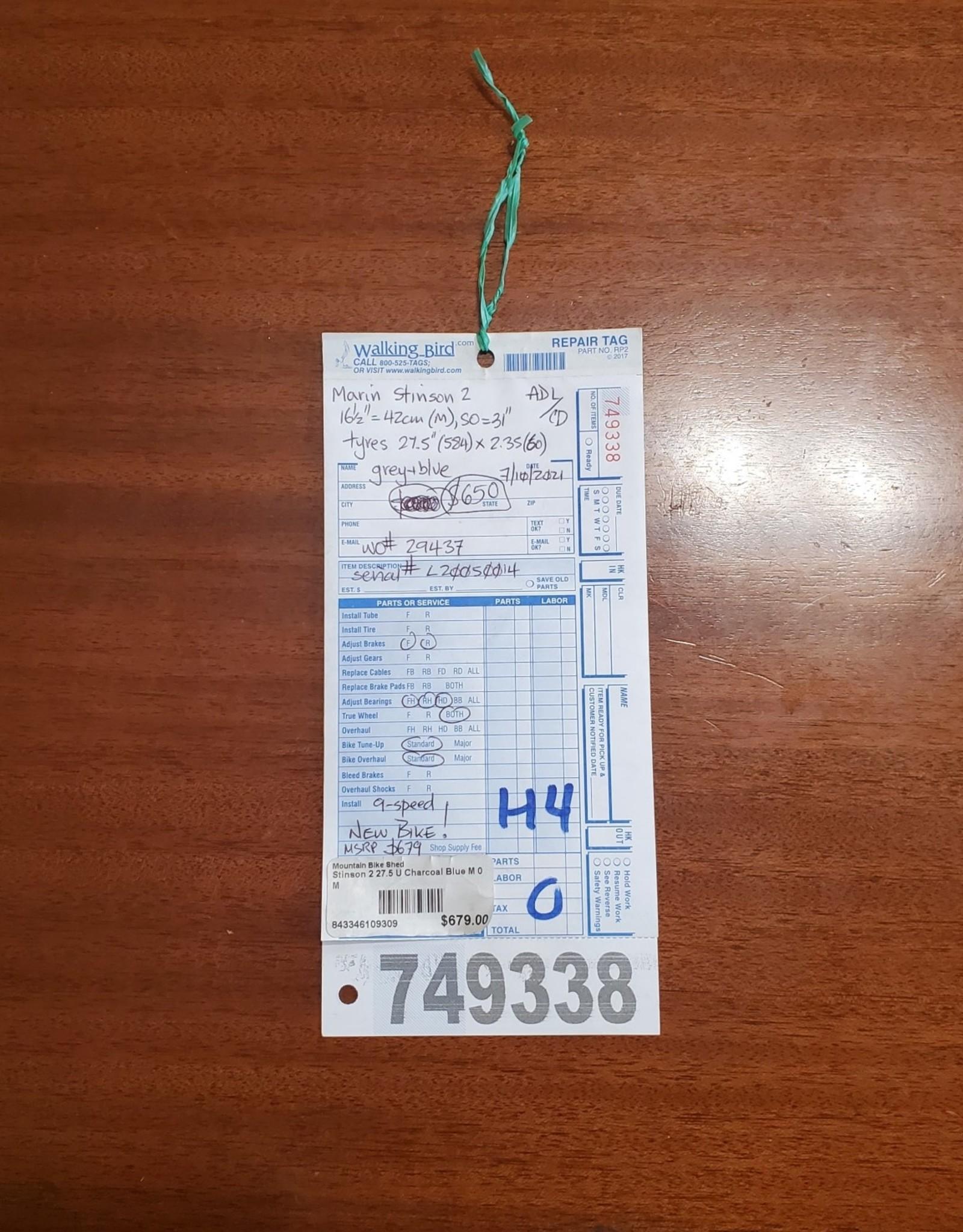 """16.5""""  Marin Stinson 2 (0014 H4)"""