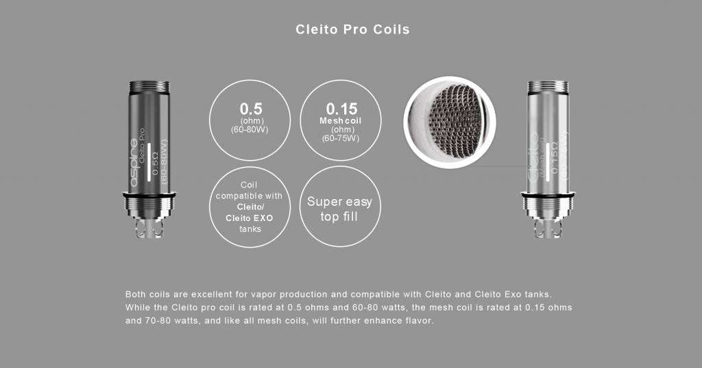Aspire Cleito Pro Tank Replacement Coil
