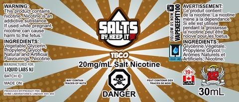 Keep it 100 TBCO Salts