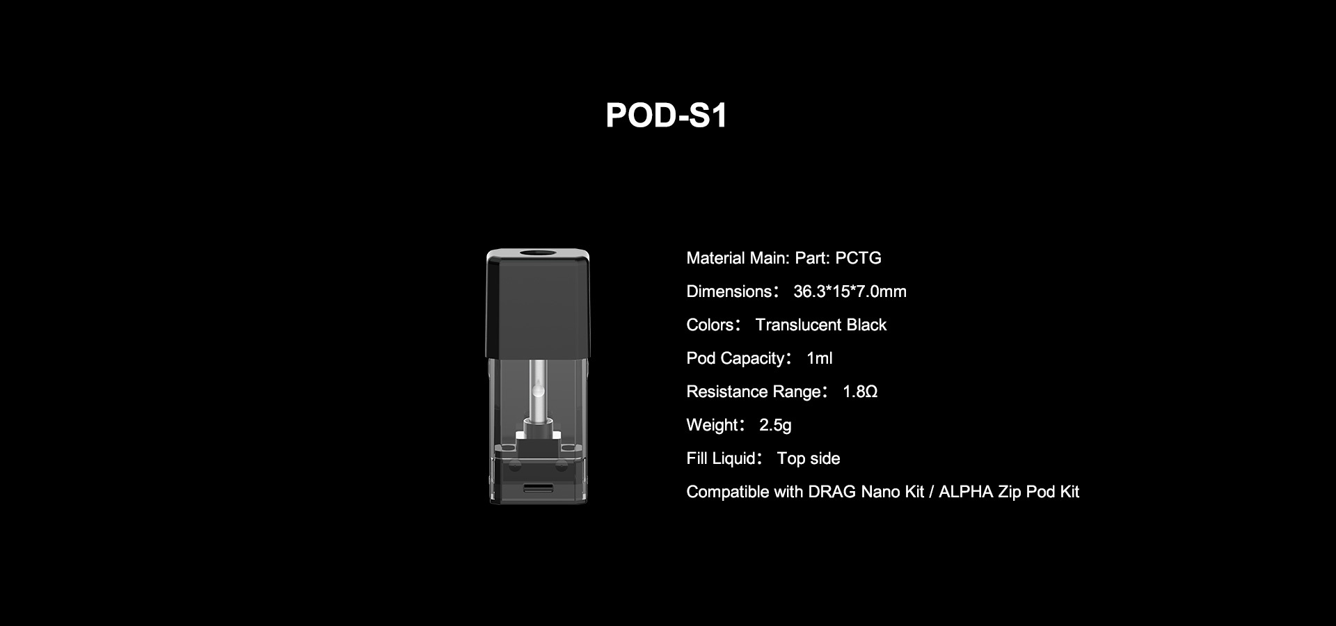 Voopoo Drag Nano S1 Replacement Pod