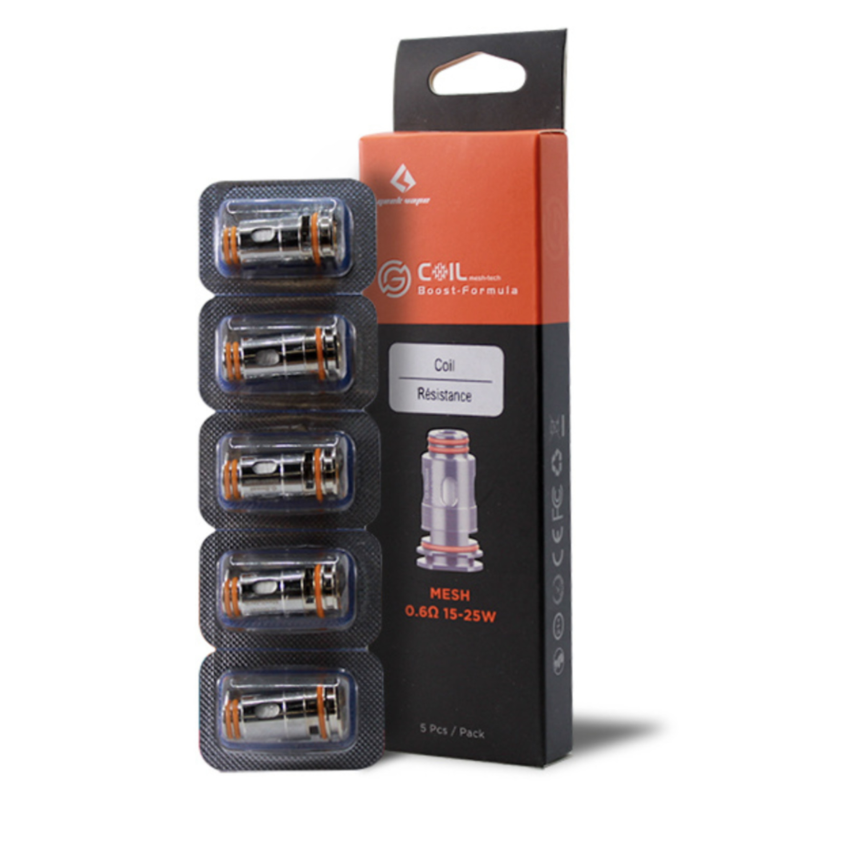 Geekvape Aegis Boost Replacement Coil 0.6 ohm Pack (5 pcs)
