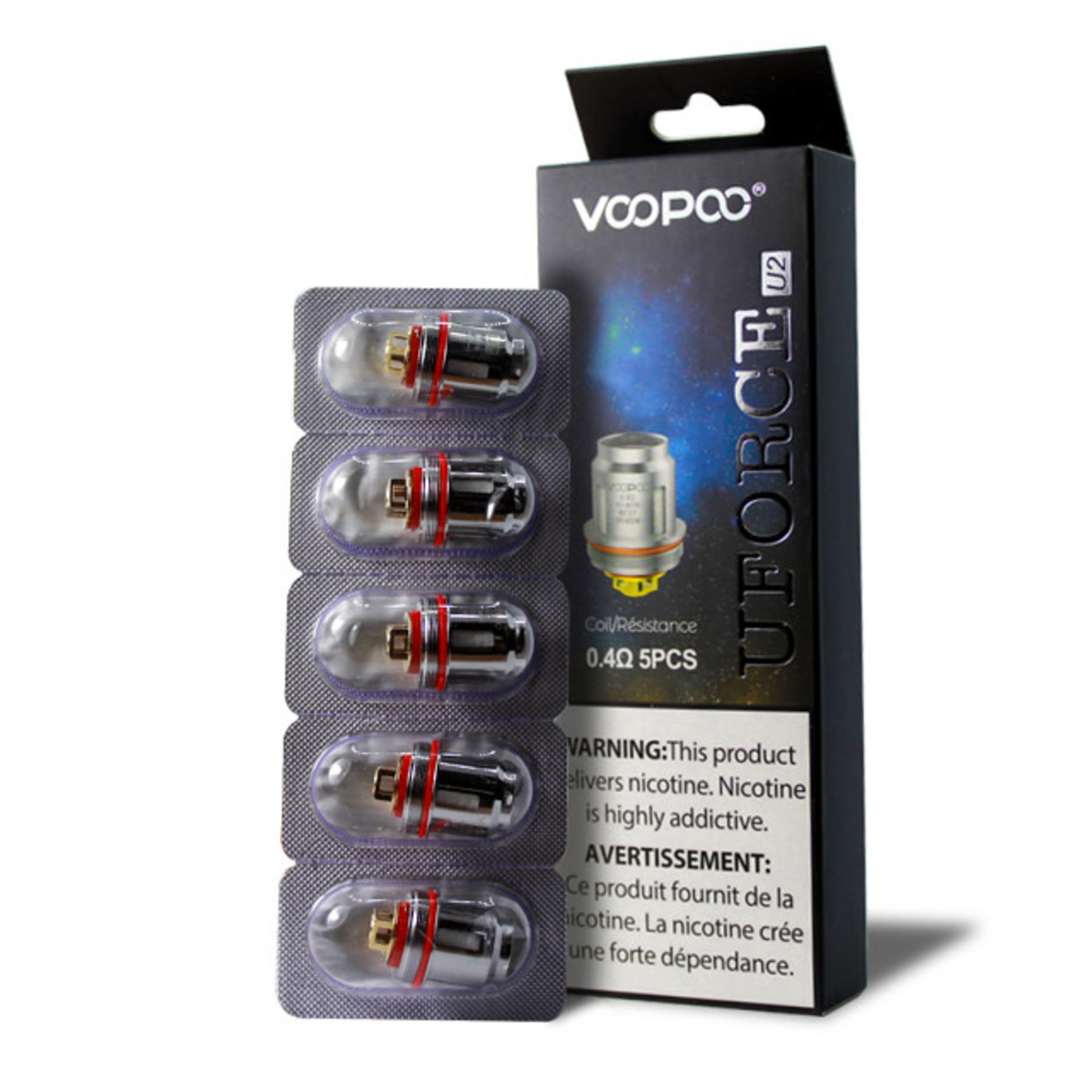 Voopoo UForce Replacement Coil U2 0.4 ohm Pack (5 pcs)