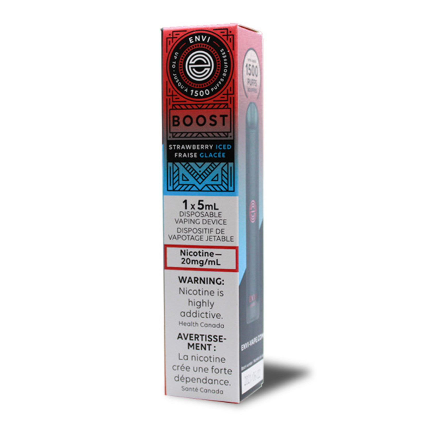 Envi BOOST 1500 Puff Disposable Device Strawberry Iced