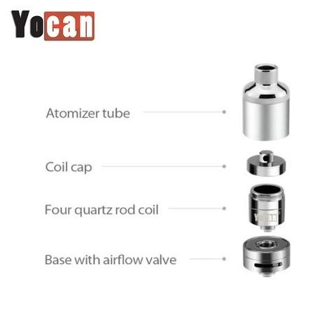 § Yo Can Evolve Plus XL Quad Quartz Coil Atomizer