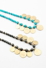 Long Necklace with Coin Discs