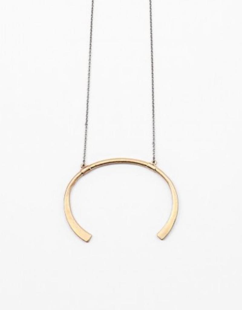 Long Crescent Boho Necklace