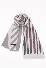 Look By M Cashmere Blended Brush stroke print scarf