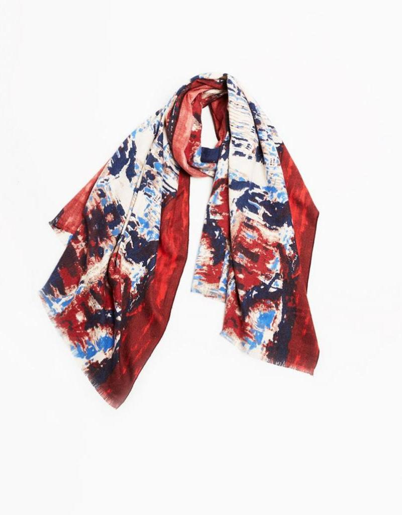 Cashmere Blended Burning Waves Scarf