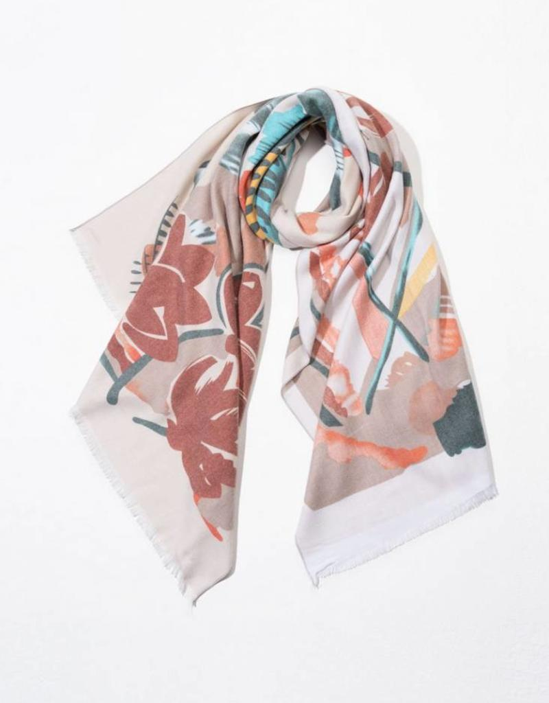 Cashmere Blended Floral Painting Scarf