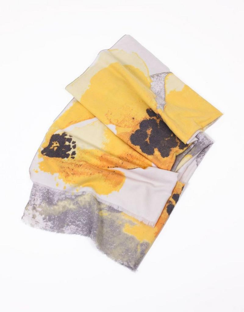Look By M Floral Watercolor Print Scarf