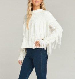Show Me Your Mumu Carlton Crop Fringe Sweater