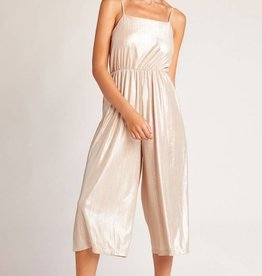 Jack by BB Dakota Shine On Metallic Jumpsuit