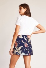 Jack by BB Dakota Rain On My Brocade Floral Skirt