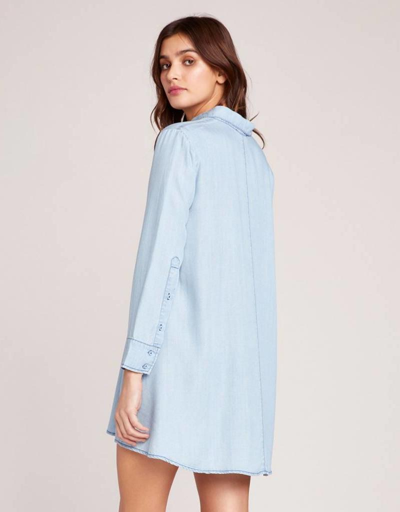 BB Dakota Shirty Personality Chambray Dress