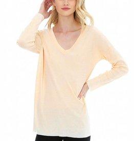 Bobi Drop Shoulder Long Sleeve Top