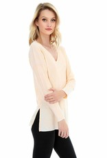 Bobi Drop Shoulder Long Sleeve Top