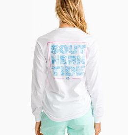 Southern Tide Palm Print Long Sleeve T-Shirt