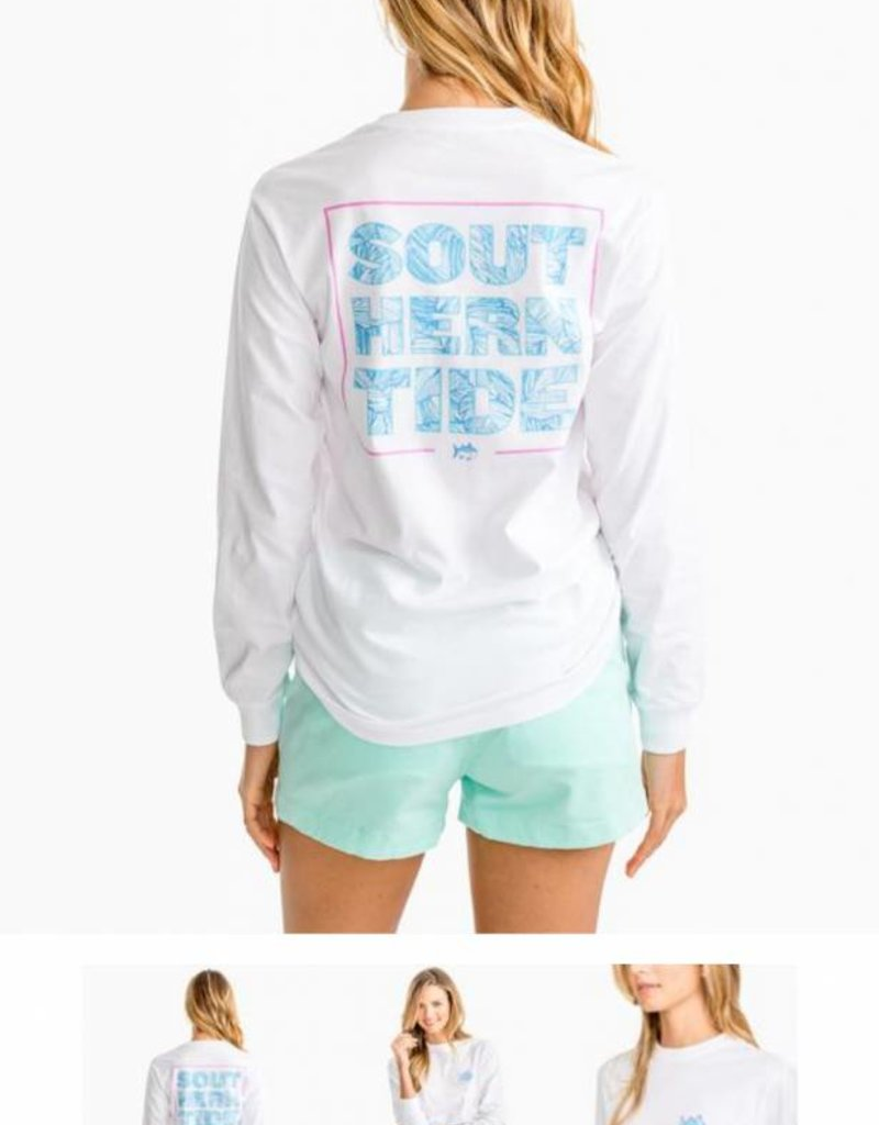 Southern Tide Palm Print Long Sleeve T-Shirt
