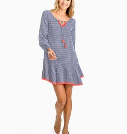 Southern Tide Lydia Flutter Skirt Ikat Dress