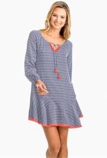 Southern Tide Lydia Flutter Skirt Ikat Dress